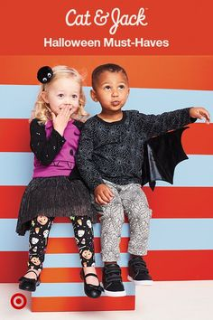 Halloween is coming up, and Cat & Jack has adorable must-haves that toddlers can wear to get spooky and celebrate. With spider-printed, super-comfy sweatshirts, candy-covered leggings, and playful accessories like bug-eyed headbands, there are tons of stylish options for any outfit. Everything is totally mix and match-able, plus durable enough to wear to school or day care—costume party or not!