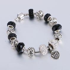 2016 Brand Jewellery Heart Charm Bracelets & Bangles For Women Crystal Beads Bracelet Pulsera Christmas Gift!♦️ SMS - F A S H I O N 💢👉🏿 http://www.sms.hr/products/2016-brand-jewellery-heart-charm-bracelets-bangles-for-women-crystal-beads-bracelet-pulsera-christmas-gift/ US $2.23