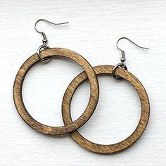 Classic Wooden Hoop Earrings - Now on Amazon