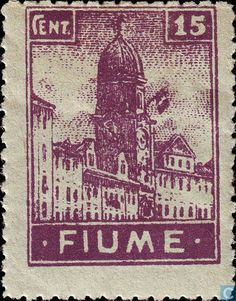 1919 Fiume - Bell Tower of the Town Hall