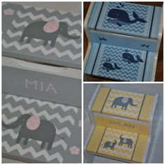 Kids Personalized 2 Step Stool  Chevron Floral by onmyown14, $69.95