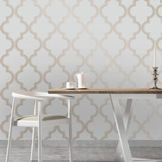 56 sq. ft. Marrakesh Self-Adhesive, Removable Wallpaper - Bronze Grey