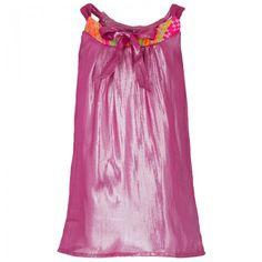 Anne Kurris Pink Embroidered Neon Collar Dress