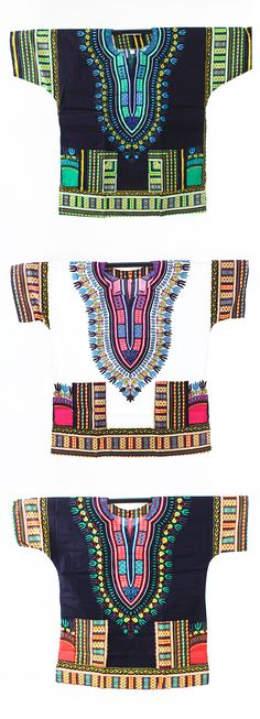 Traditional African Dashiki Shirts in Bold African Colors and Patterns - This beautiful African dashiki shirt is perfect for celebrating Black History Month or for celebrating African history and culture all year long.  This shirt comes in many colors and sizes and can be worn by both men and women.  Click to see more beautiful African fashions.  #fashion #african #africa #style #stylish #africanfashion #mensstyle #womensstyle #blackhistorymonth #blackhistory #patern #design #black