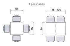 1000 images about maison table cuisine dimensions on for Dimension table de cuisine