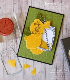 Little Paper Party, Lemon Zest, Jar of Love, Scrapbooking, Scrapbook Cards, Stampin Up Catalog 2017, Stampin Up Anleitung, Shaker Cards, Get Well Cards, Stamping Up, Recipe Cards, Cool Cards