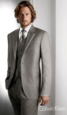 2015 New arrivals Custom Made dark gray Groom Tuxedo/Wedding Suits For Men 3 pieces Suits ( jacket+Pants+vest+tie) Tuxedo Wedding, Wedding Men, Wedding Suits, Wedding Groom, Wedding Ideas, Wedding Tuxedos, Wedding Attire, Menswear Wedding, Taupe Wedding