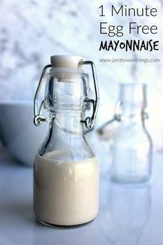 and high fat mayonnaise with this 1 minute egg free mayonnaise ...