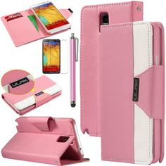Pandamimi ULAK(TM) Luxury PU Leather Wallet Flip Pouch Case Stand Cover for Samsung Galaxy Note 3 N9000 W/Screen Protector and 1xTouch Stylus (Baby Pink/White) ULAK http://www.amazon.com/dp/B00G45PV18/ref=cm_sw_r_pi_dp_PyGkub0SSH6TK