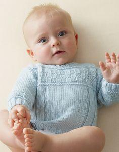 bra model layette sweater in wool - Free Patterns Baby - Phildar Kids Knitting Patterns, Knitting For Kids, Baby Patterns, Brei Baby, Baby Barn, Baby Pullover, Little Boy Blue, Toddler Sweater, Baby Vest