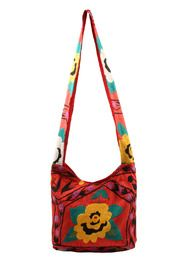 Large Crossbody Bag by Hanuman Gamesh. Made in Turkey. Suzanni embroidery laptop size bag.