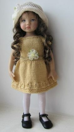 OOAK Hand Knit Doll Outfit Set for 13'' BJD Helen Kish Diana Effner
