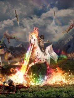Well, this is just awesome. #unicorn #rainbow