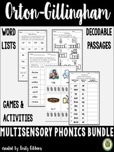 ADDED: TWO, SCHWA VOWELS PACKS, VRe PACK Multisensory phonics instruction that is executed in a systematic way benefits all readers, but especially the struggling readers in your class. Using the Orton-Gillingham approach when delivering phonics instruction will ensure that your