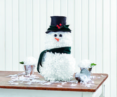 A fun winter snowman craft you're sure to love! He's one of the cutest DIY home decor projects you'll make this year.