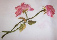 SOLD    ANTIQUE Society SILK Embroidery Tablecloth w/ by vintageflowers