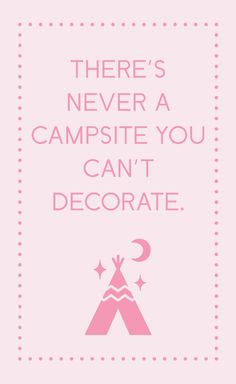 Add some glamour to your campsite with the Poppytalk for Target collection. In stores and online June Check out our website for more camping photos! Camping Glamping, Camping Life, Camping Hacks, Outdoor Camping, Funny Camping, Camping Signs, Outdoor Fun, Caravan Vintage, Vintage Travel Trailers