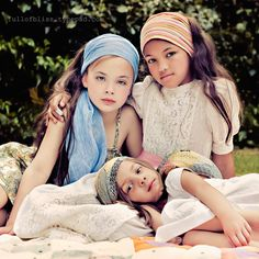 Not that these are knit or crochet, but I love the idea of a knitted or crocheted gypsy head scarf for my little gypsies!