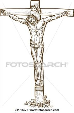 Jesus Christ hanging on the cross Drawing Jesus On Cross Tattoo, Jesus Tattoo, Crucifixion Of Jesus, Jesus Christ, Jesus Sketch, Cross Drawing, Cross Tattoo Designs, Christian Tattoos, The Cross Of Christ