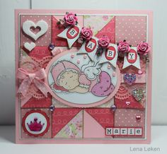 Lappeteknikk baby kort