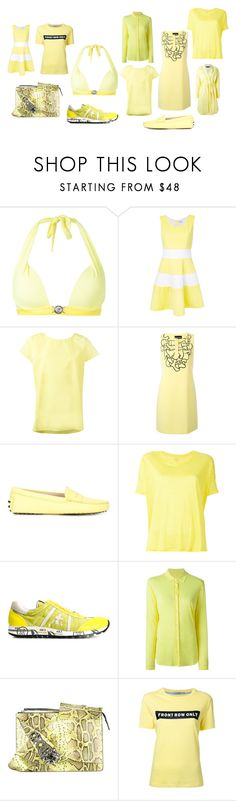 """""""yellow fever"""" by monica022 ❤ liked on Polyvore featuring Versace, Guild Prime, Sofie D'hoore, Boutique Moschino, Tod's, Majestic Filatures, Premiata, N°21, Rochas and vintage"""