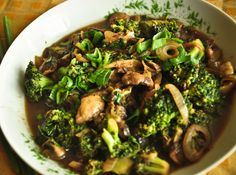 Broccoli and mushrooms are great source of folic acid for blood formation and also provide fiber.