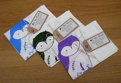 Screen Printed Owl Tea Towel £8.00
