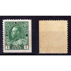 """1911-25 CANADA SCOTT #104a MINT KGV """"ADMIRAL"""" BOOKLET PANE SINGLE 1 CENT STAMP. Buy it on eBid Canada   154294377"""
