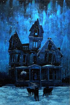 So Halloween-y!  Painting by Daniel Danger