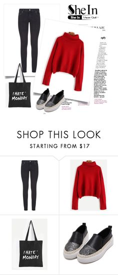 """""""SheIn 8/XII"""" by nermina-okanovic ❤ liked on Polyvore featuring Paige Denim and shein"""