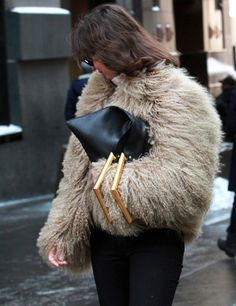 Fur & Celine / street style / fashion / outfit