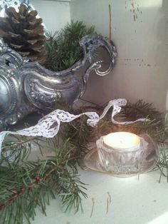 christmas - candle light www.detijdvantoen.net Brocante & Styling