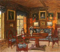 Past. The room of an old house. 1912 - Stanislav Zhukovsky (1875–1944)