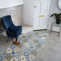 Create a statement wall or feature floor with these pattern tiles! Choose from encaustic styled vintage designs and colourful patterned Moroccan patchworks. Bold Colors, Colours, Moroccan Tiles, Tile Patterns, Kitchen Flooring, Rugs, Walls, Bathroom, Google Search