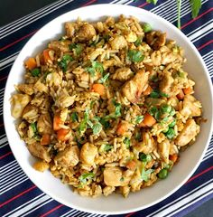 Healthy Chinese chicken egg fried rice recipe, the easiest, quickest and tastiest way of cooking leftover rice in about 15 minutes.
