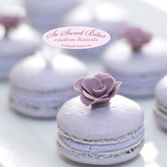 Ube (Taro) French Macarons! ...For ideas, recipes & tutorials FOLLOW @sosweetbites on Instagram and visit soathome.blogspot
