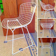 #MidCenturyModern #Bertoia #Vintage Wire Side Chair -Info @Link Below.