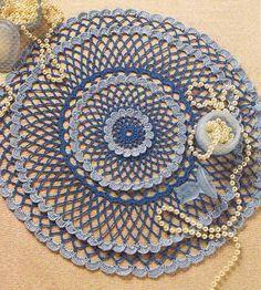 BLUE LAGOON - Crochet Doily PATTERN. $1.00, via Etsy.