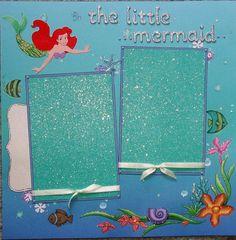 little mermaid scrapbook layout   Disney   Disney Scrapbook Layouts