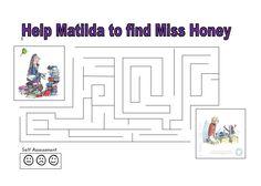 A Matilda maze - fun for Roald Dahl Day