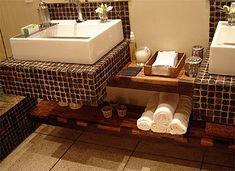 Fotos de decoração de banheiros com pastilhas!