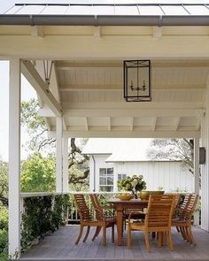 of a covered porch