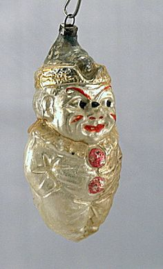 Early 1900s 'Smiling Tom' Clown Glass Ornament (Image1)