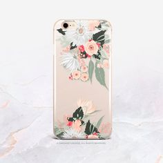 iPhone XS Case Summer Floral Clear Rubber iPhone XS Max Case iPhone XR Case iPhone X Case iPhone 8 C