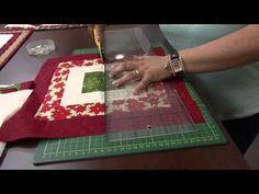 Tia Lili Patchwork: veja como fazer uma toalha natalina com canto mitrado - YouTube