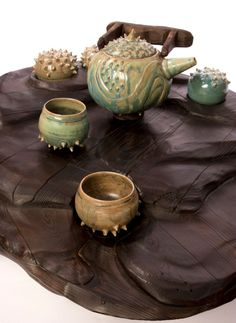 Funky ceramic tea set!