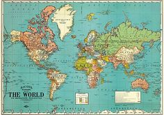 World map free large images maps pinterest wallpaper bacons world map decorative wrapping paper gumiabroncs Images