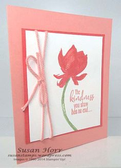Lotus Blossom, Sale-a-bration, Stampin Up Flower Stamp, Flower Cards, Friendship Cards, Stamping Up Cards, Pretty Cards, Creative Cards, Greeting Cards Handmade, Homemade Cards, Making Ideas
