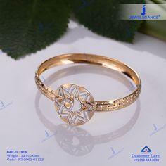 Plain Gold Bracelet jewellery for Women by jewelegance. ✔ Certified Hallmark Premium Gold Jewellery At Best Price Plain Gold Bangles, Diamond Necklace Simple, Jewelry Bracelets, Jewelery, Ladies Bracelet, Women Jewelry, Fashion Jewelry, Gold Ring Designs, Fancy Jewellery