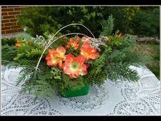 Hřbitovní kytice na dušičky -- UDĚLEJTE SI SAMI -NÁVOD. - YouTube